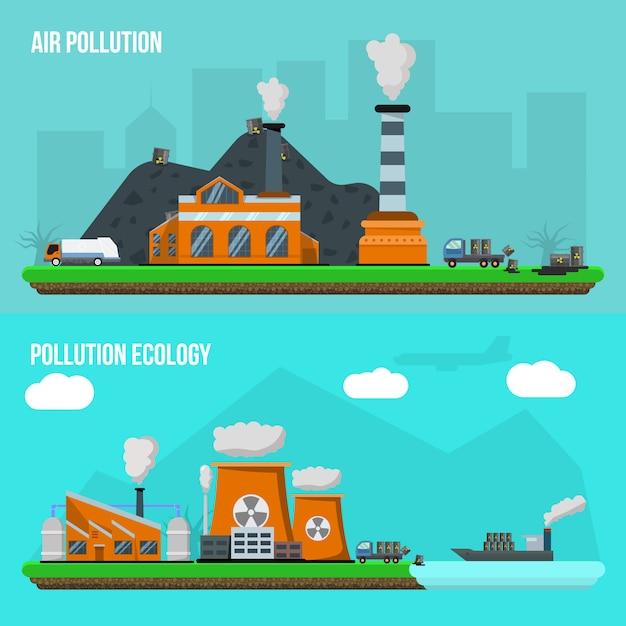 Umweltverschmutzungsset Kostenlosen Vektoren