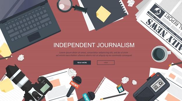 Unabhängiger journalismus Premium Vektoren