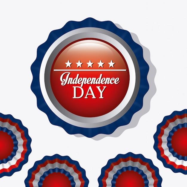 Unabhängigkeitstag 4. juli usa-entwurf Kostenlosen Vektoren