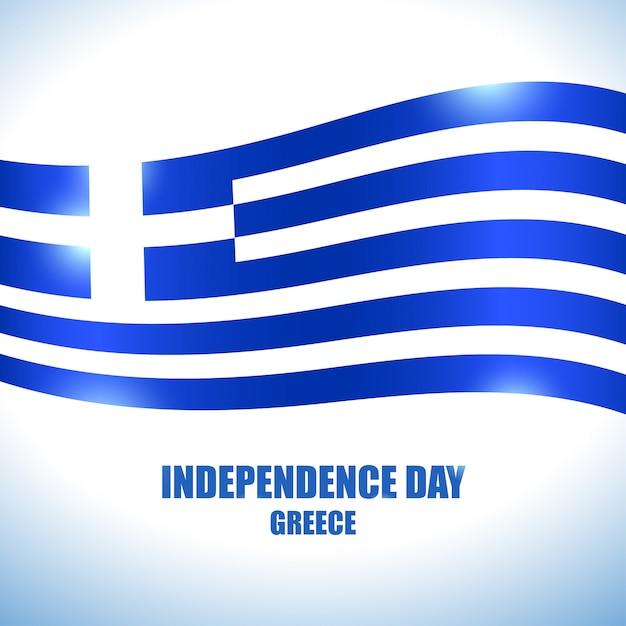 Unabhängigkeitstag der griechischen flagge Premium Vektoren