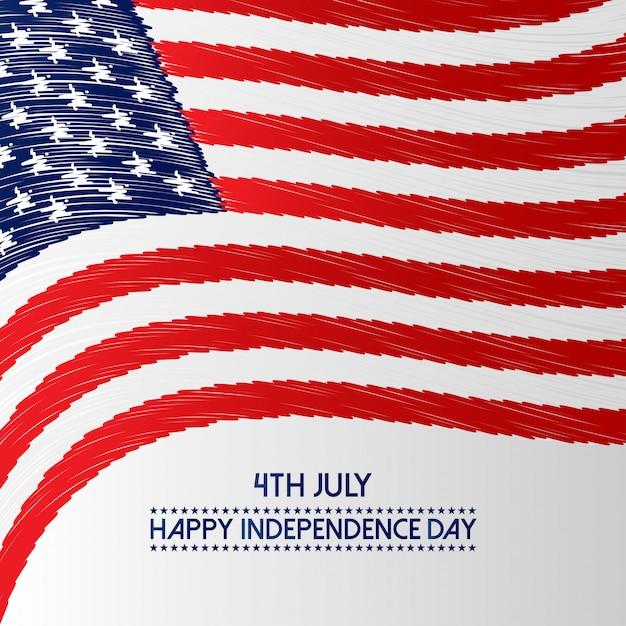 Unabhängigkeitstag der usa 4. juli Kostenlosen Vektoren