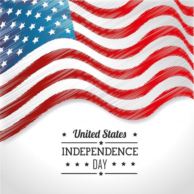 Unabhängigkeitstag der vereinigten staaten, 4. juli feier Kostenlosen Vektoren