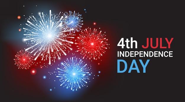 Unabhängigkeitstag der vereinigten staaten Premium Vektoren