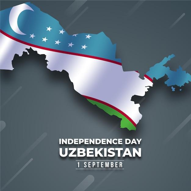 Unabhängigkeitstag des usbekistan-konzepts Premium Vektoren