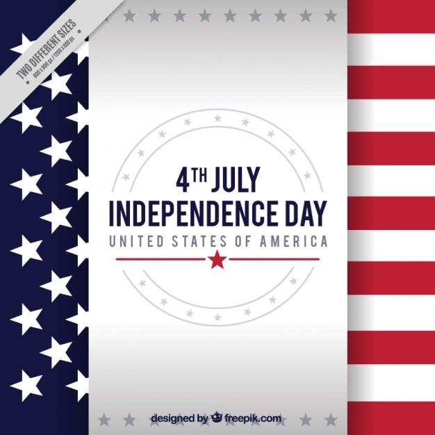 Unabhängigkeitstag hintergrund mit flagge Kostenlosen Vektoren
