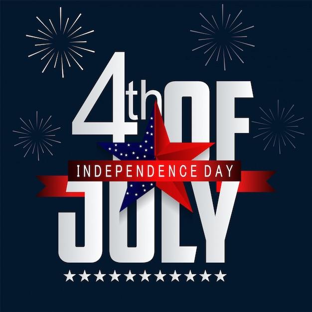 Unabhängigkeitstag in den vereinigten staaten von amerika. Premium Vektoren