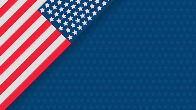 Unabhängigkeitstag usa-feierfahnenschablone Premium Vektoren