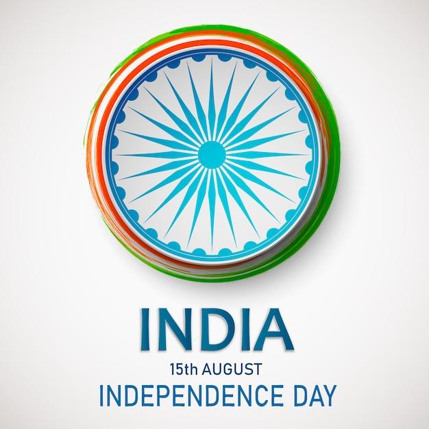 Unabhängigkeitstag von indien. Premium Vektoren