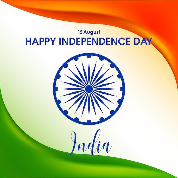 Unabhängigkeitstag von indien Premium Vektoren
