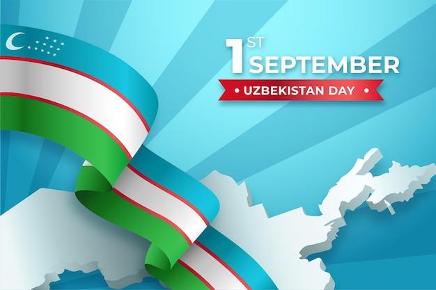 Unabhängigkeitstag von usbekistan hintergrund Kostenlosen Vektoren