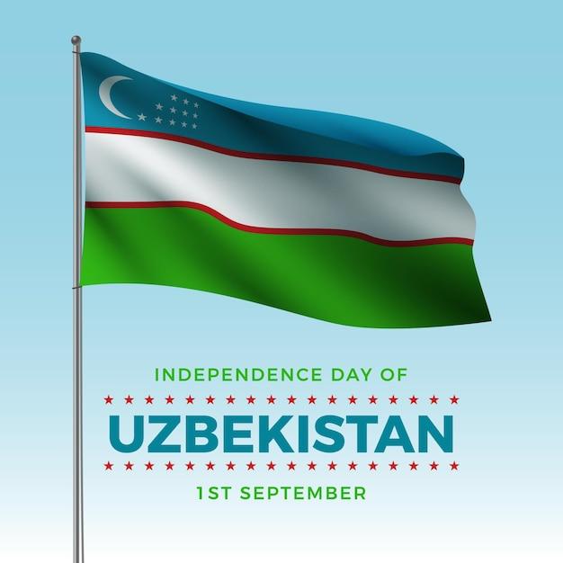 Unabhängigkeitstag von usbekistan realistische tapete Kostenlosen Vektoren