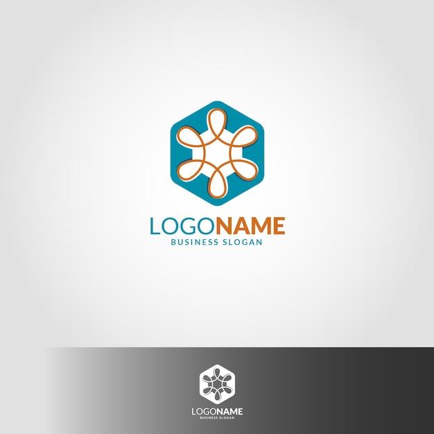 Unendlich-Hexagon Logo Vorlage | Download der Premium Vektor