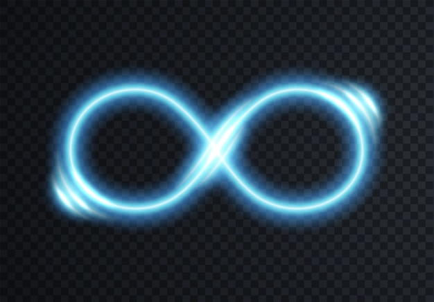 Unendlich leuchtendes symbol Premium Vektoren