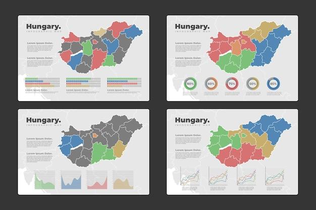 Ungarn karte infografiken Kostenlosen Vektoren