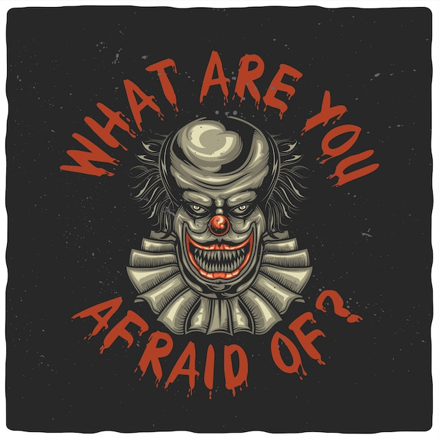 Unheimlicher clown Premium Vektoren