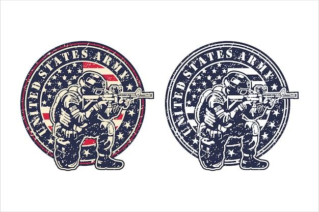 United states army logo Premium Vektoren