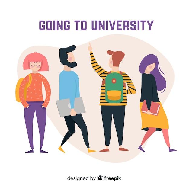 Universitätsstudentensammlung Kostenlosen Vektoren