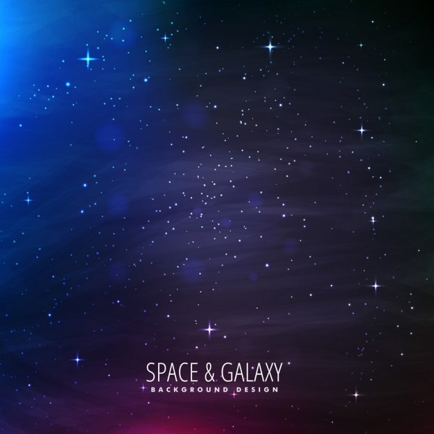 Universum-hintergrund mit sternenlichter Kostenlosen Vektoren
