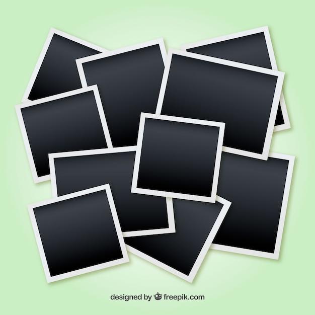Unordentliche fotorahmencollage Kostenlosen Vektoren
