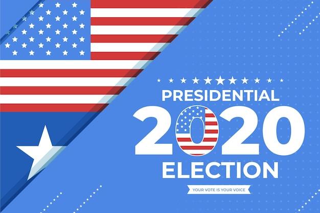 Uns hintergrund der präsidentschaftswahlen Premium Vektoren