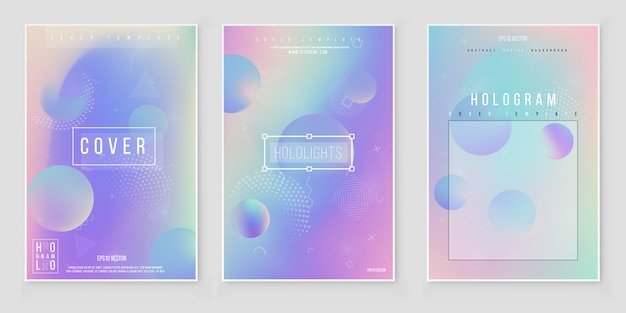 Unscharfer abstrakter farbhintergrundsatz. trendy modernes design Premium Vektoren