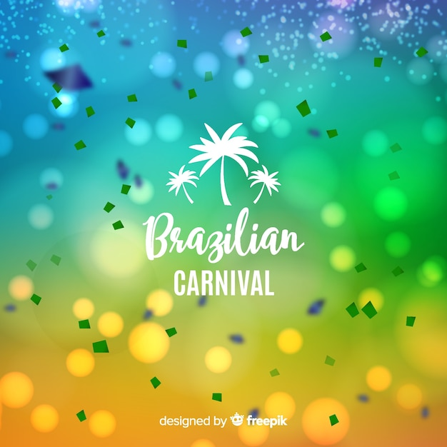 Unscharfer brasilianischer karnevalshintergrund Kostenlosen Vektoren