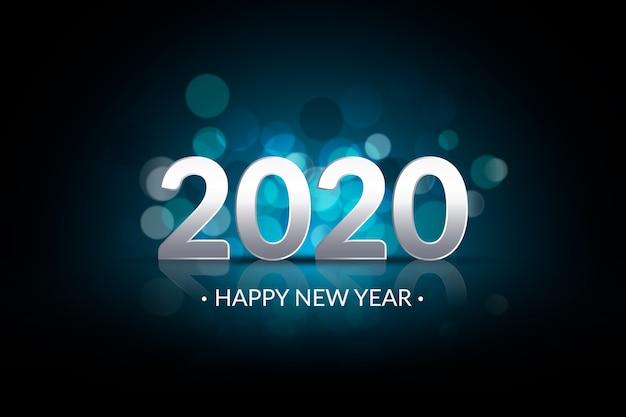 Unscharfer hintergrund des neuen jahres 2020 Kostenlosen Vektoren