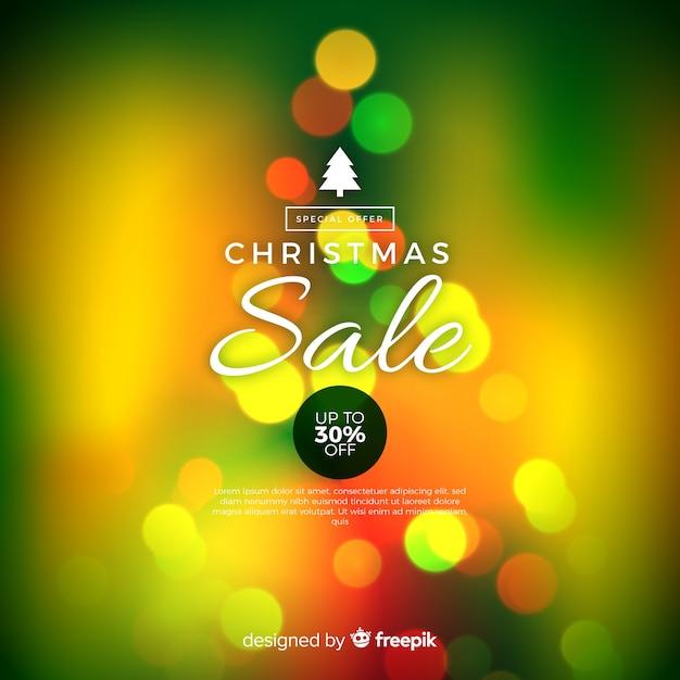 Unscharfer weihnachtsverkaufshintergrund Kostenlosen Vektoren