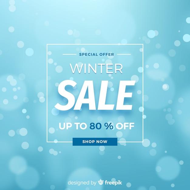 Unscharfer winterschlussverkaufhintergrund Kostenlosen Vektoren