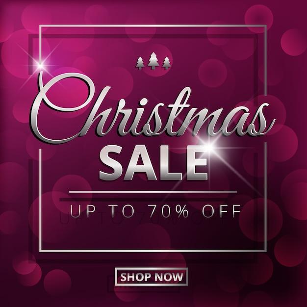 Unscharfes weihnachtsverkaufskonzept Kostenlosen Vektoren
