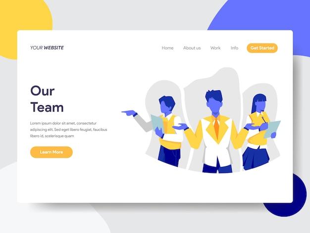 Unser team für die webseite Premium Vektoren
