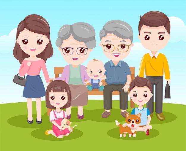 Unsere familienmitglieder Premium Vektoren
