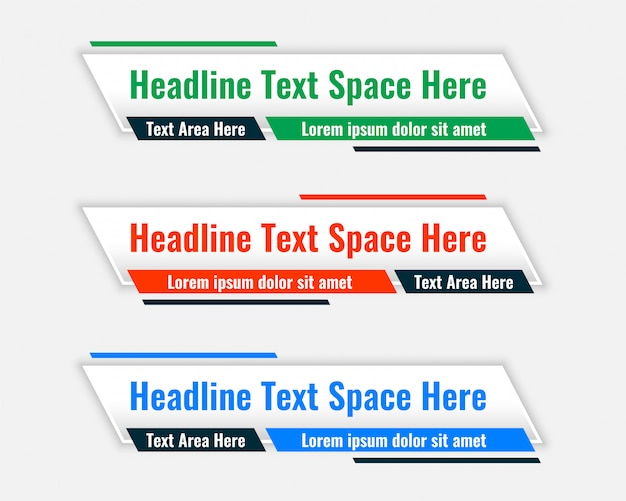 Unteres drittel breite banner mit textraum Kostenlosen Vektoren