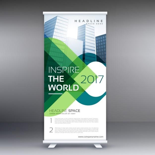 Unternehmen Roll-up-Banner-Präsentation Kostenlose Vektoren