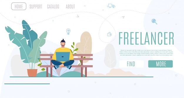 Unternehmensgründung für freiberufliche vektor-website Premium Vektoren