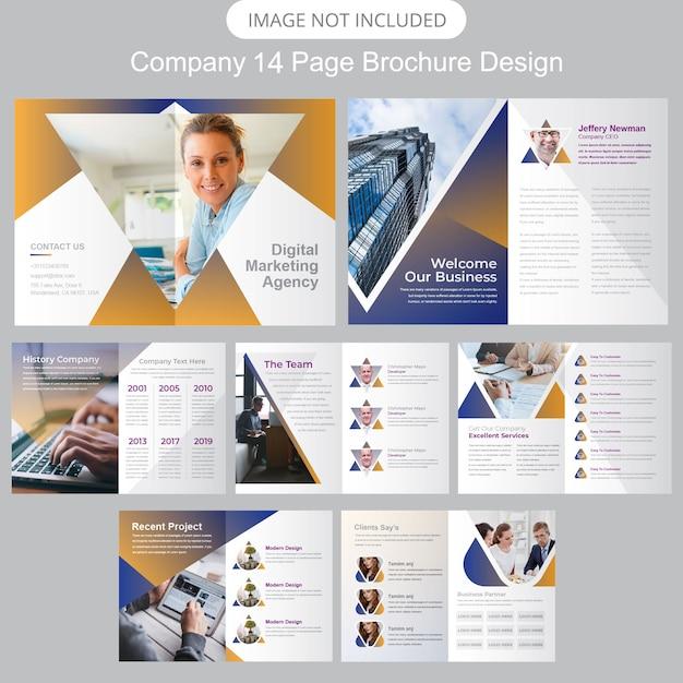 Unternehmensprofil broschüren vorlage Premium Vektoren