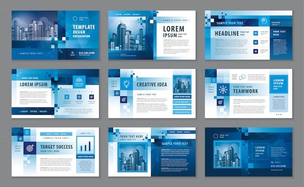 Unternehmensprofil, designvorlage für den geschäftspräsentationskatalog Premium Vektoren