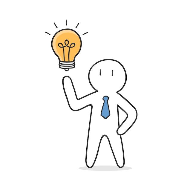 Unternehmer erhalten eine idee Kostenlosen Vektoren