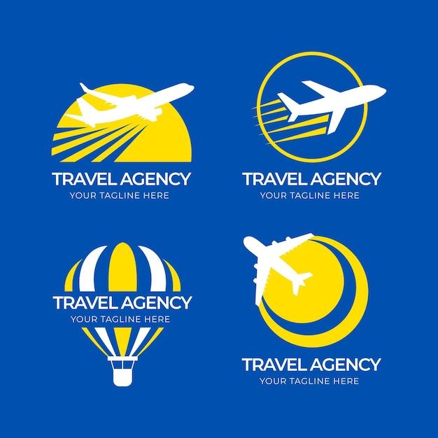 Unterschiedliche sammlung von reiselogos Kostenlosen Vektoren
