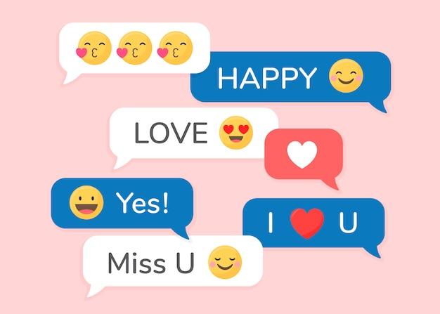 Unterschiedlicher emoji-satz Kostenlosen Vektoren