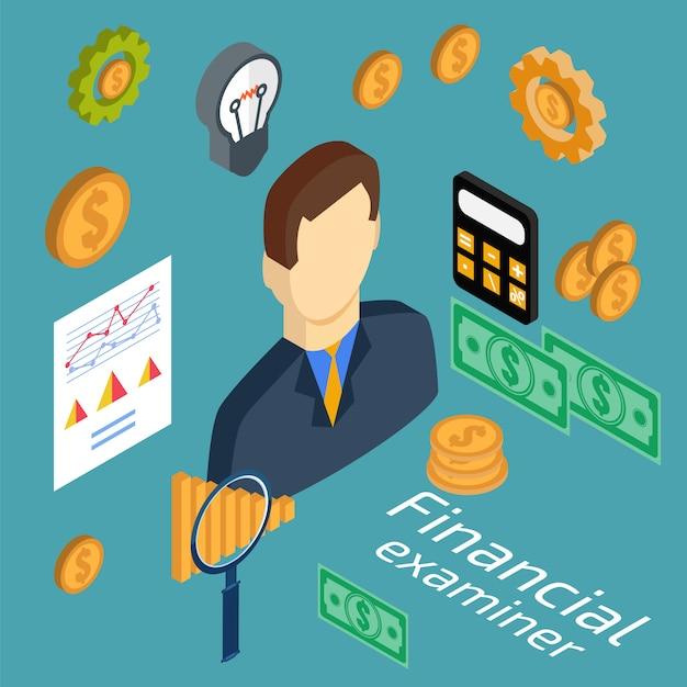 Untersuchung der wirtschaftsstatistik Premium Vektoren