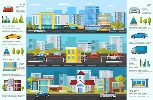 Urban auto traffic broschüre Kostenlosen Vektoren