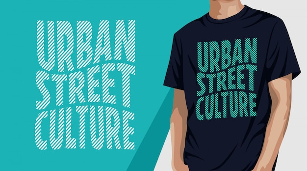 Urban street culture typografie t-shirt design Premium Vektoren