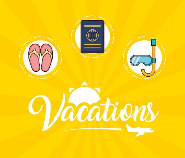Urlaub elemente Kostenlosen Vektoren