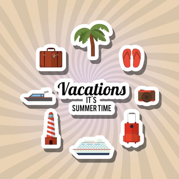 Urlaub-icon-design Premium Vektoren