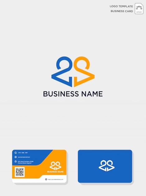 Ursprüngliche ca- oder ac-creative-logo-vorlage und visitenkartenvorlage Premium Vektoren