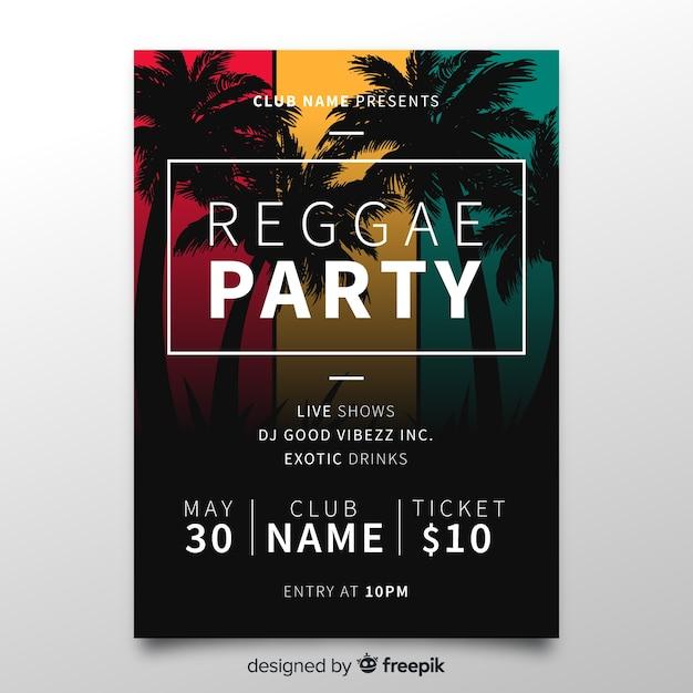 Ursprüngliche zusammensetzung der reggae-party Kostenlosen Vektoren