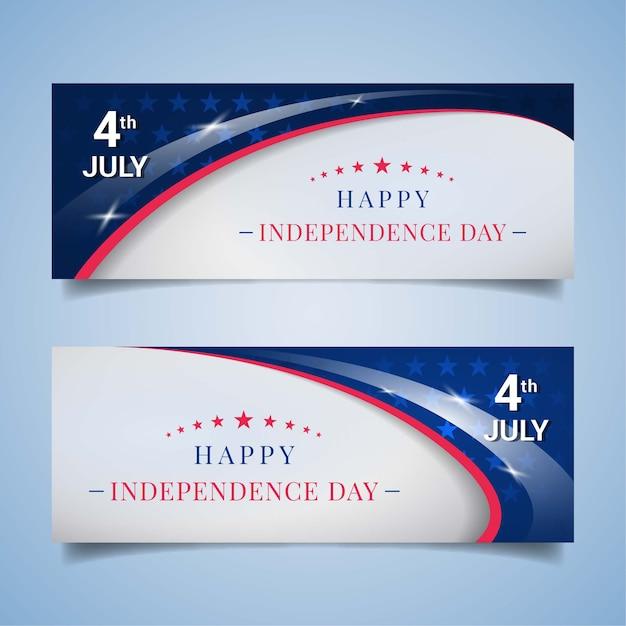 Us-unabhängigkeitstag-banner Premium Vektoren