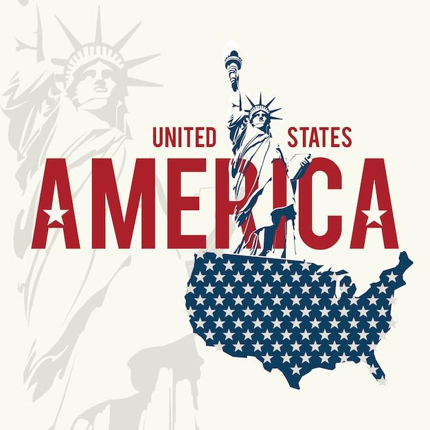 Usa-design über weißem hintergrund Premium Vektoren