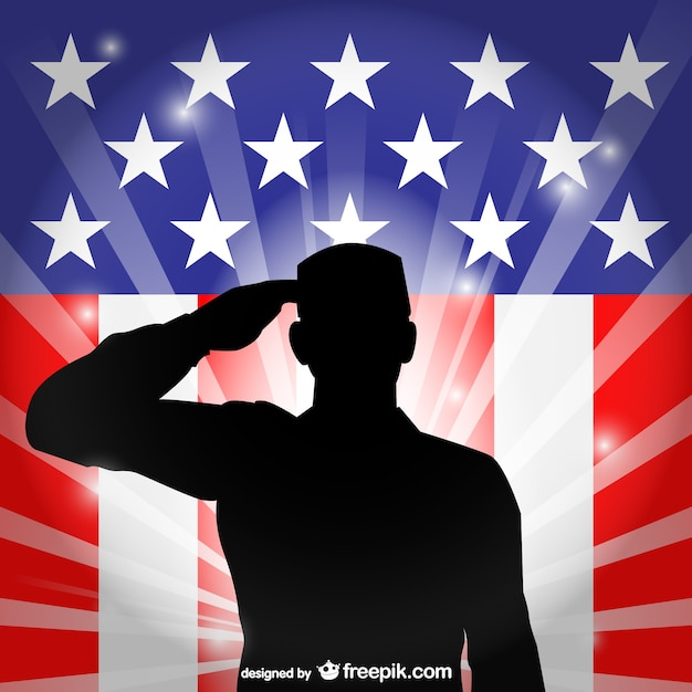 Usa flagge salutieren vektor Kostenlosen Vektoren